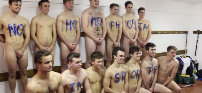 University Hockey Team Gets Naked To Stop Homophobia In Sport [NSFW]