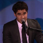 Darren Criss performing live at the 2013 Glaad Awards