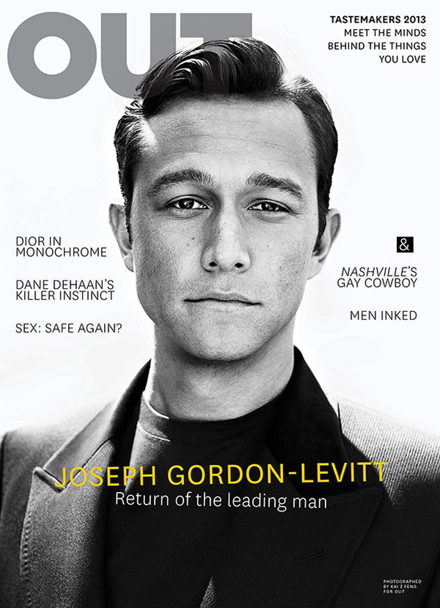 Joseph Gordon-Levitt on the OUT magazine cover