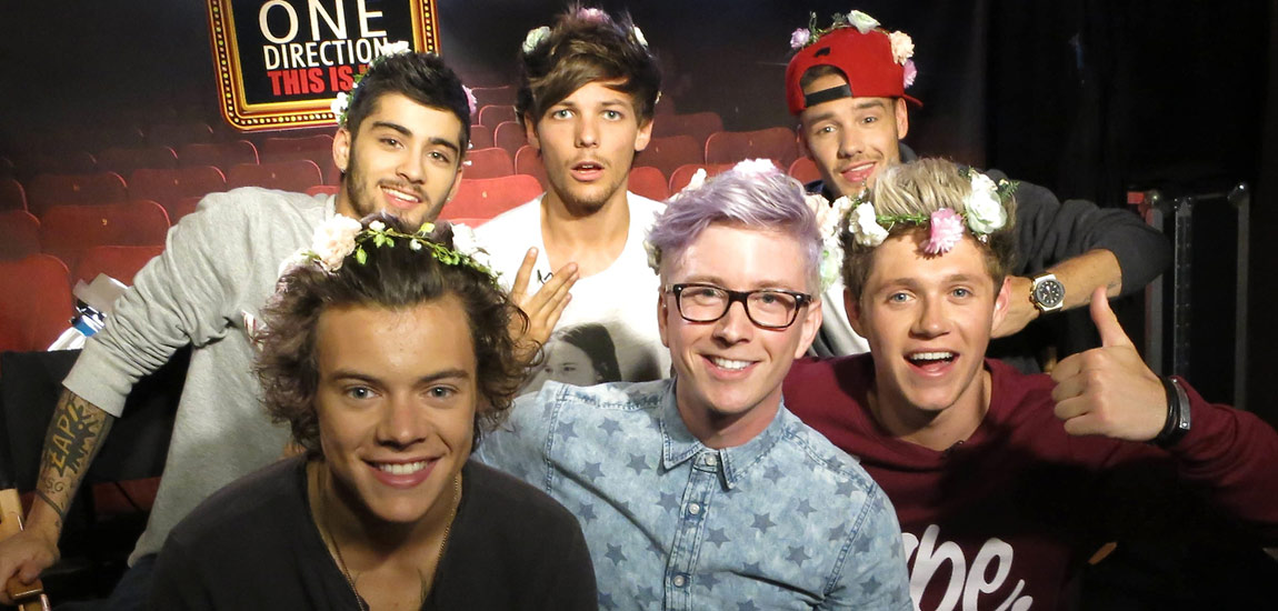 Youtube star tyler oakley conducts adorable interview with one tyler oakley one direction interview picture m4hsunfo