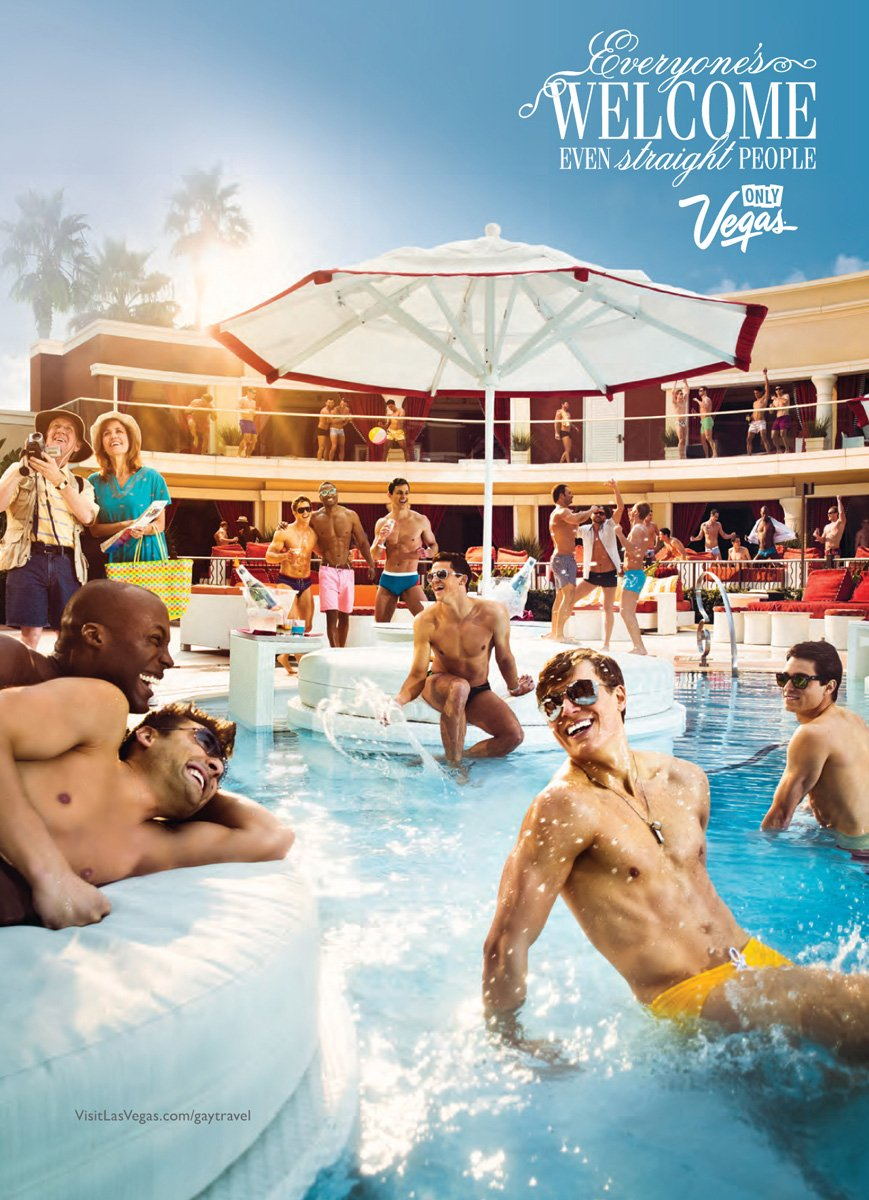 Gay Print Ads, Las Vegas Tourism