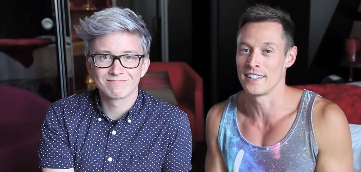Best Gay Vloggers, Davey Wavey and Tyler Oakley