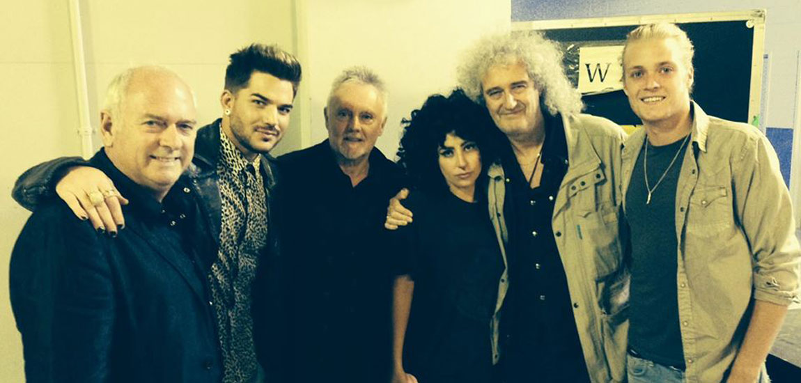 Queen and Adam Lambert with Lady Gaga