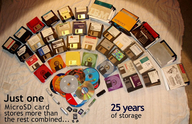25 years of computer storage