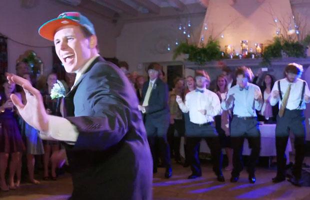 Brian Best Men Perform Biebers Baby At Wedding Reception