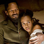 Kerry Washington and Jamie Foxx in Django Unchained