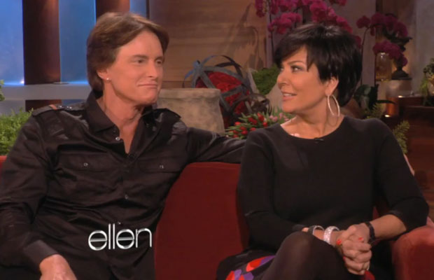 Kris and Bruce Jenner on Ellen Degeneres Show, February 2012