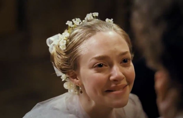 Amanda Seyfried playing Fantine's young daughter Cosette in Les Miserables 2012