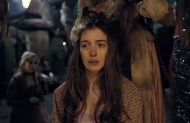 Anne Hathaway's Les Miserables character getting her hair cut off