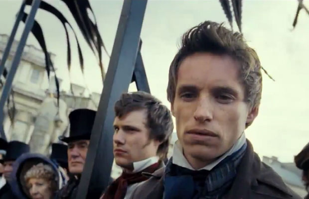 Actor Eddie Redmayne in Les Miserables movie 2012