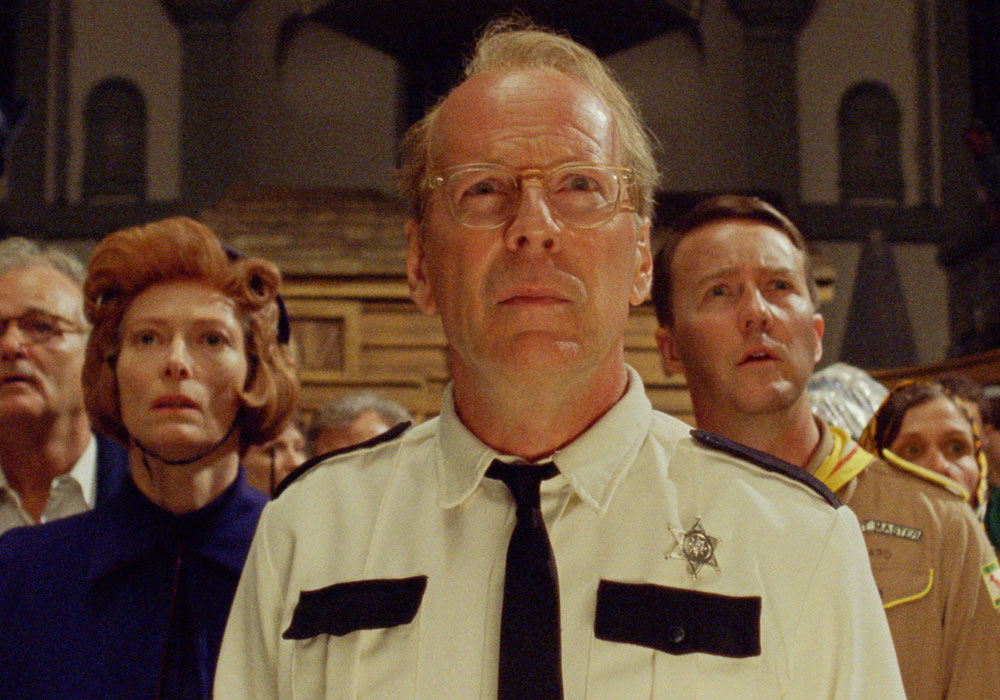 Bruce Willis in Wes Anderson&#039;s Moonrise Kingdom movie 2012