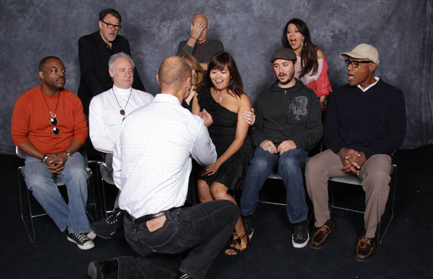 Star Trek Fan Being Proposed To In Front of Star Trek The Next Generation Cast