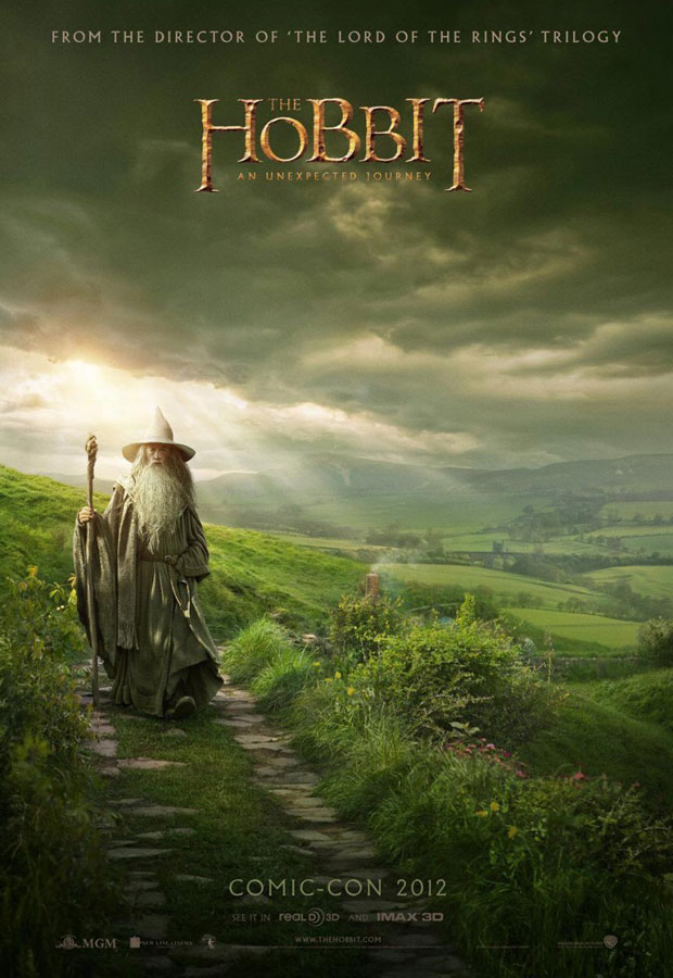 The Hobbit Comic Con 2012 poster