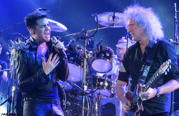 Adam Lambert and Queen performing live together