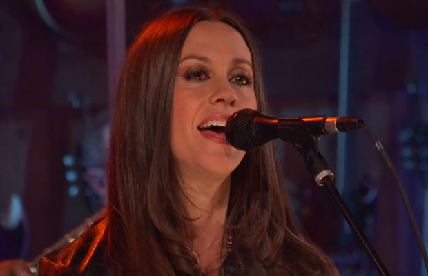 Alanis Morisette singing her new song guardian