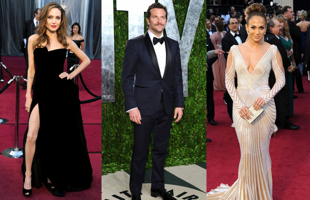 Angelina Jolie, Bradley Cooper and Jennifer Lopez on the Oscars Red Carpet