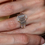 Angelina Jolie's engagement ring up close