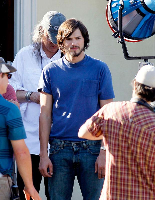 Ashton Kutcher playing Steve Jobs