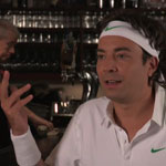 Jimmy Fallon playing Roger Federer in At The Bar with Roger Federer