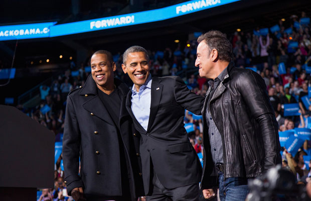 Barack Obama, Bruce Springsteen and Jay Z