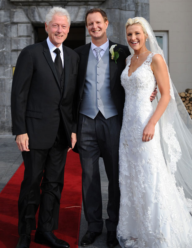 Former President Bill Clinton crashes Kelly Seamans and Patrick Howard wedding in Ireland