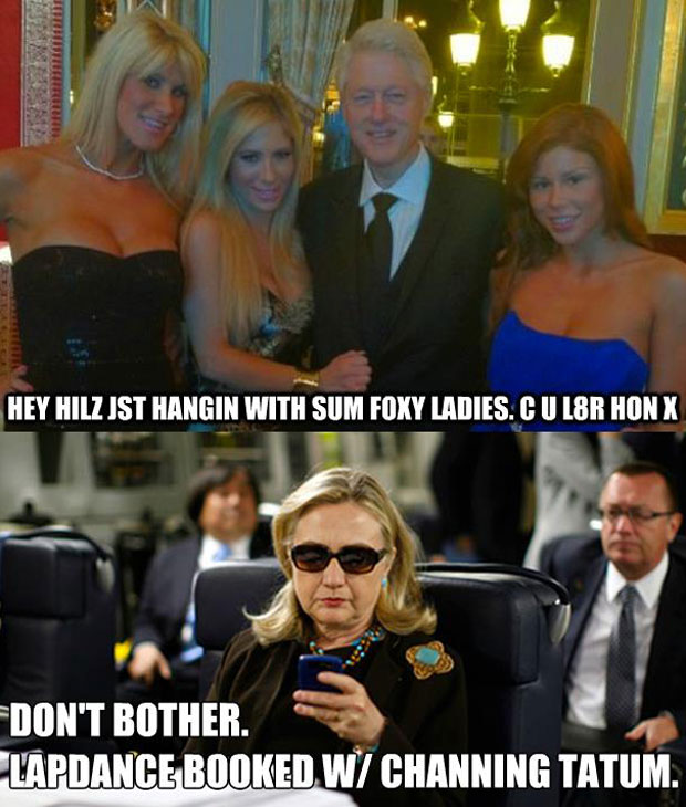 Bill Clinton texts Hillary Clinton