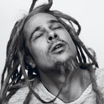 Brad Pitt dreadlocks in Interview Magazine photo shoot