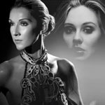Celine Dion and Adele