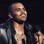 Chris Brown accepting a 2012 Grammy Award