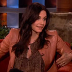Courteney Cox on The Ellen DeGeneres Show in January 2013