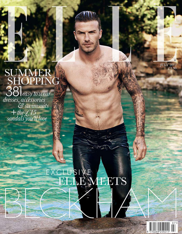David Beckham on Elle July 2012 Cover