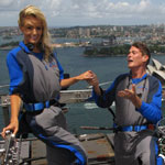 David Hasselhoff proposes to Haylet Roberts on top of Sydney Harbour Bridge