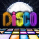 Disco ball and dancefloor