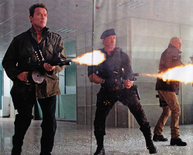 Willis, Schwarzenegger, Stallone, in Expendables 2