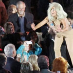 Lady Gaga performs for The Clintons