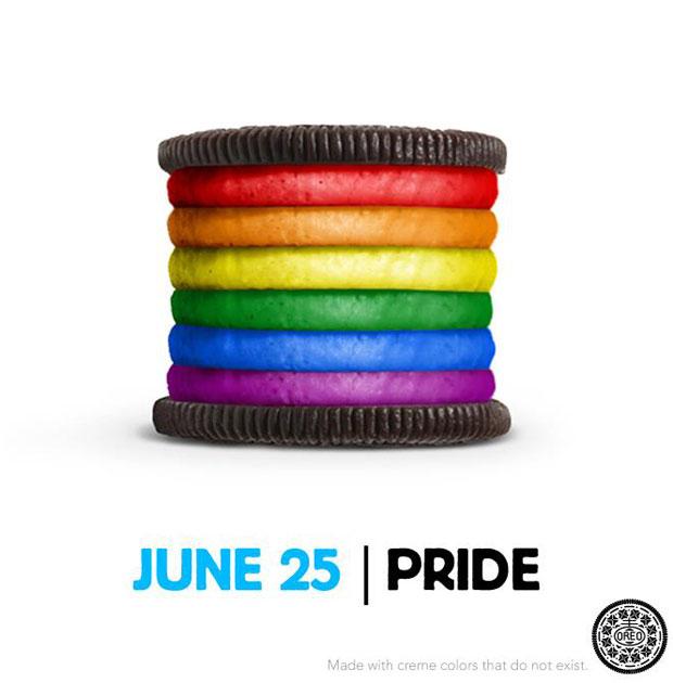 Gay Pride Oreo Cookie