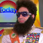 Sacha Baron Cohen as General Aladeen on Today Australia