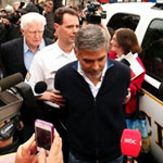 George Clooney being arrested