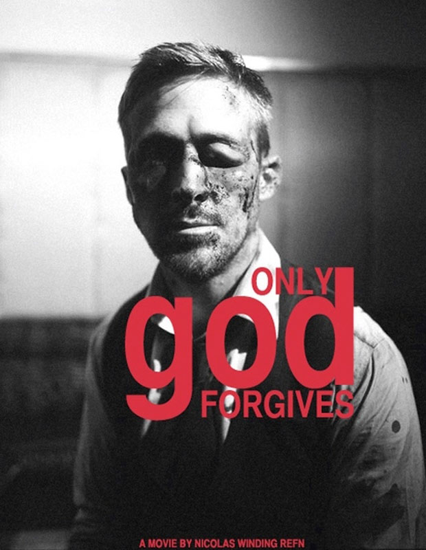 A Busted-Up Ryan Gosling in Only God Forgives poster