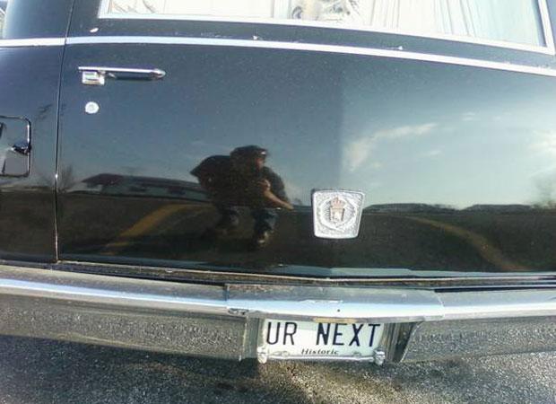 Hearse License Plate