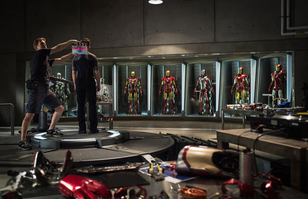 Iron Man 3 first behind the scenes set picture