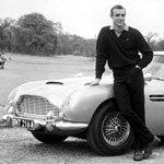 James Bond with the original 1964 Astin Martin