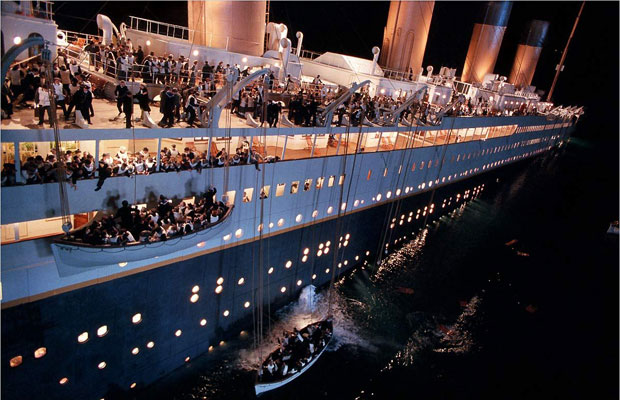 Film still of James Cameron's Titanic