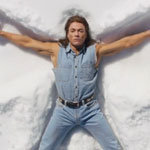 Jean Claude Van Damme making snow angels and singing Take My Breath Away for a Coors Light commercial