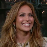 Jennifer Lopez on The Late Show with David Letterman January 2012