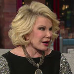 Joan Rivers on the Late Show with David Letterman in June 2012