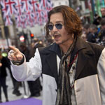 Johnny Depp on the Dark Shadows Red Carpet in London