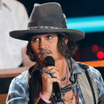 Johnny Depp accepting the MTV Generation Award 2012