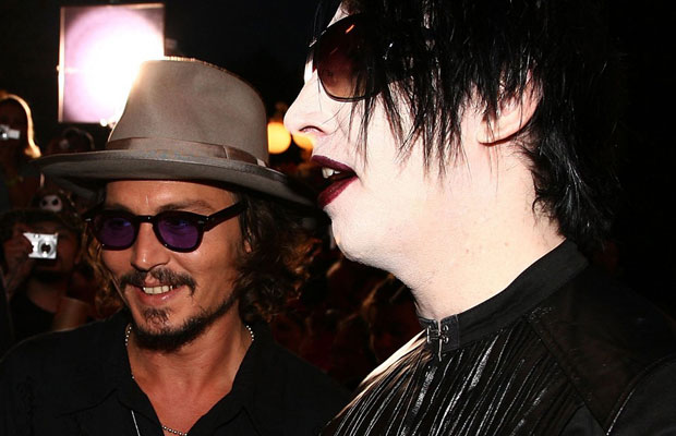 Johnny Depp with Marilyn Manson