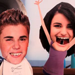 Justin Bieber and Rebecca Black